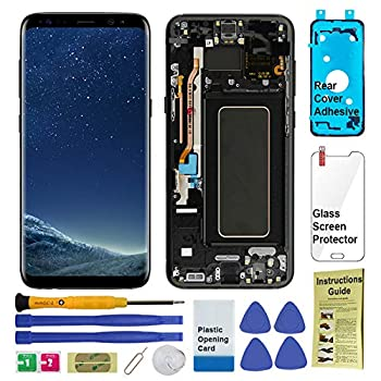 Image of Replacement Parts Display Touch Screen (AMOLED) Digitizer Assembly with Frame for Samsung Galaxy S8 Plus (6.2 inch) All Models (Unlocked) (for Phone Repair Replacement) (Midnight Black)