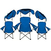 Quik Shade Adjustable Canopy Folding Camp Chair by Bravo