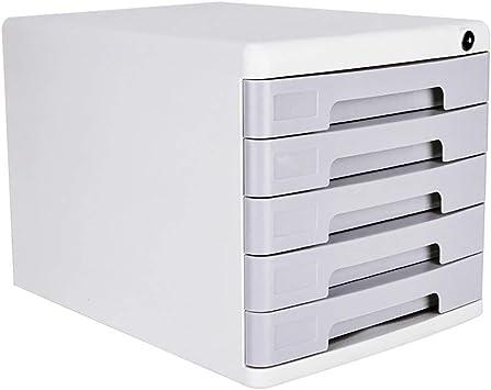 Almacenamiento de plástico cajones Unidad de almacenamiento con cerradura Organizador archivador A4 caja for la oficina/Color: Blanco (Tamaño: 360 * 270 * 260 mm) Caja de almacenamiento: Amazon.es: Electrónica