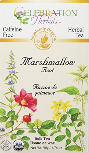 Celebration Herbals Organic Marshmallow Root Bulk Tea Caffeine Free -- 1.76 oz Marshmallow Root Tea