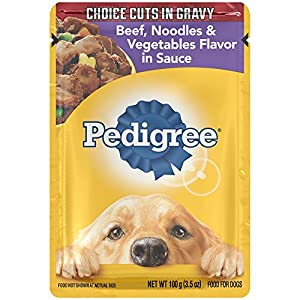 PEDIGREE Choice Cuts Beef, Noodles and Vegetables Flavor in Sauce Wet Dog Food 3.5 Ounces (Pack of 16)