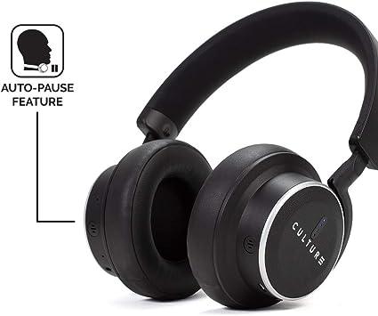 Culture V1/R/éducteur de Bruit sans Fil Over Ear Casque capteurs intelligents Noir