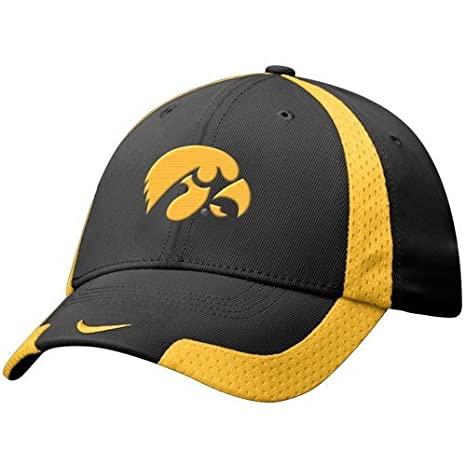 e898a225ae54c Image Unavailable. Image not available for. Color  Nike Iowa Hawkeyes Black  Basketball Swoosh Flex Fit Hat