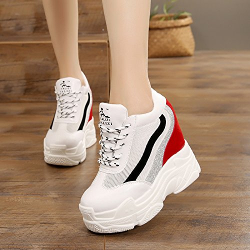 Zapatos Super verano De Tacones Gtvernh Gules Fondo Neto Deportivos Mayor Casuales 12cm Muffin Altos Mujeres Mujer Zapatos Transpirable Grueso RnpRWI0