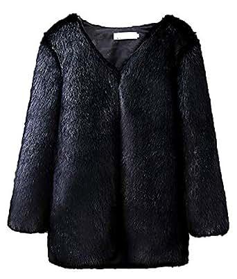 PROMLINK Women Faux Fur Coat Thick Winter Warm Jacket