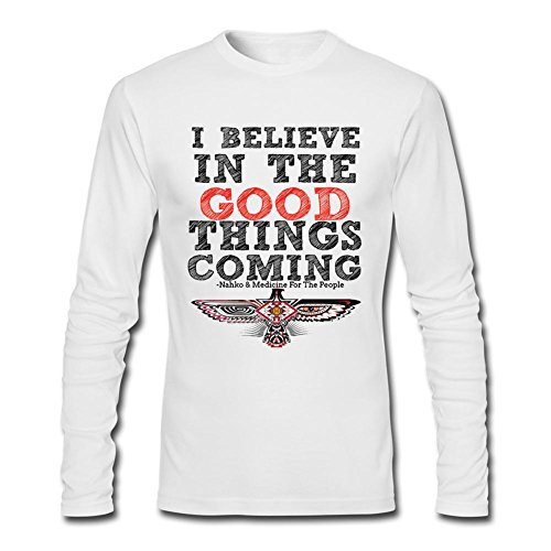 Kittyer Men's Nahko and Medicine for the People Long Sleeve Cotton T Shirt