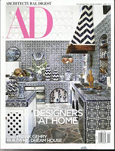 Designs Address Free Label - AD ARCHITECTURAL DIGEST MAGAZINE, THE INTERNATIONAL DESIGN AUTHORITY APRIL, 2019 ( PLEASE NOTE: ALL THESE MAGAZINES ARE PET & SMOKE FREE MAGAZINES. NO ADDRESS LABEL. FRESH FROM NEWSSTAND) (SINGLE ISSUE MAGAZINE)
