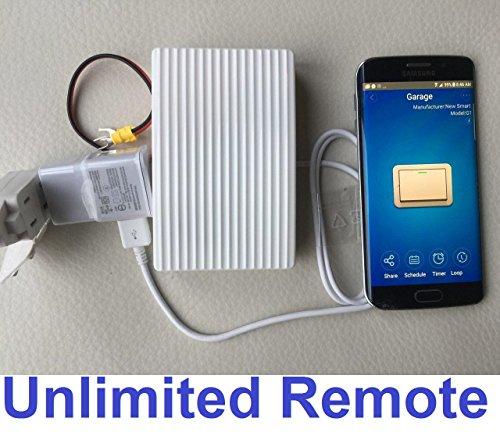 WIFI GARAGE DOOR OPENER REMOTE CONTROL SWITCH SMART HOME GATE SUPPORT SMARTPHONE IOS IPHONE APP ALEXA & GOOGLE