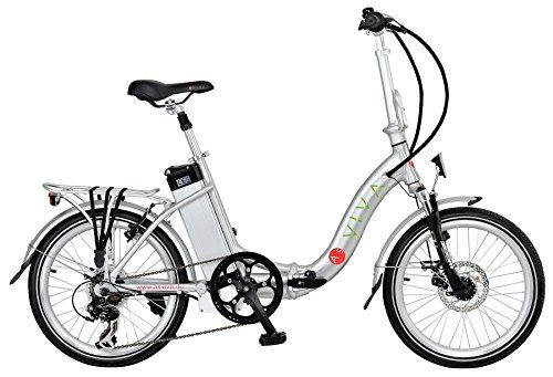 AsVIVA B12 Elektrofahrrad und Klapprad Pedelec 20 Zoll - das Faltrad mit 36V 11Ah Samsung Akku ein E-Bike / Elektrorad, silber, B12_S