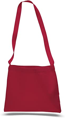 Amazon Com Cross Body Canvas Totes Small Messenger Tote Bags Long Shoulder Straps Set Of 1 Red Messenger Bags