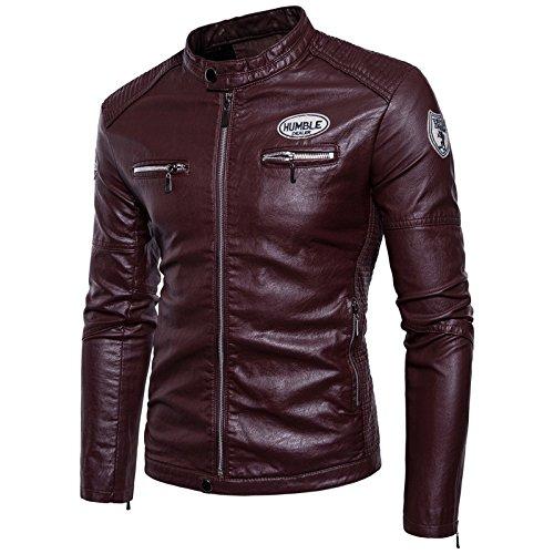 Di Uomo La Moto Uomini Giacca Serie L Peluche Codice Abbigliamento Casual Invernali Dimensione Cappotti Spessa H11qf