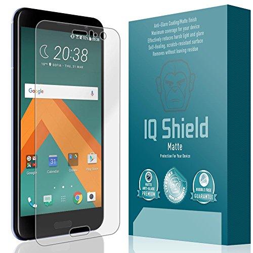IQ Shield Matte Full Coverage Anti-Glare Screen Protector for HTC U11 (HTC U 11) Anti-Bubble Film