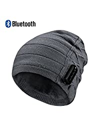 LC-dolida Knit Hat, Bluetooth Beanie Hat for Winter ¡
