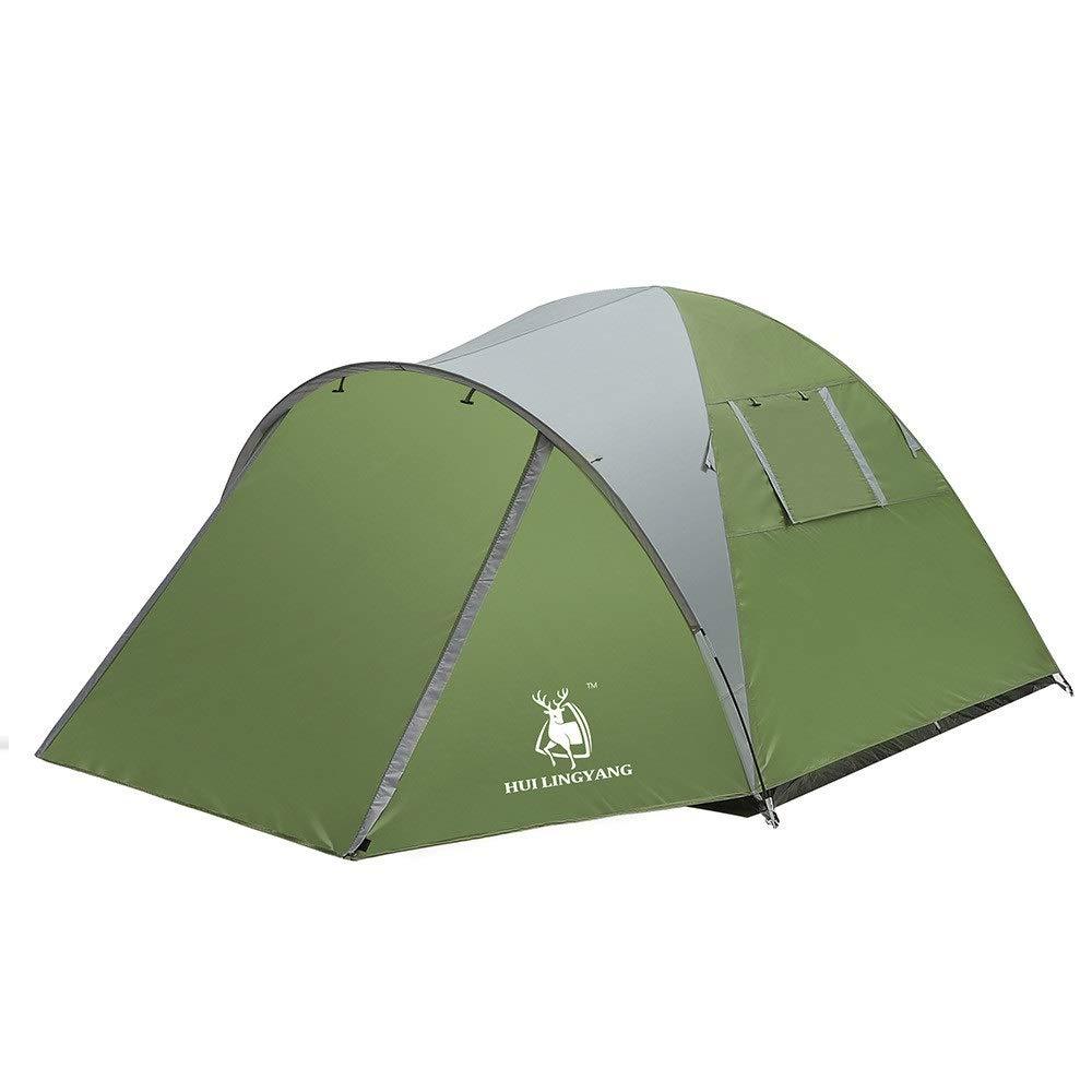 KTH Zweilagiges Zelt für 3-4 Personen mit Zwei Räumen, Schlafzimmer  Wohnzimmer B07QKH18CJ Kuppelzelte Attraktive Mode
