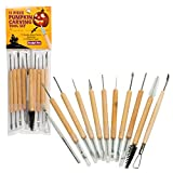 Pumpkin Carving Tools- Halloween Sculpting Kit with 11 Double Sided Pieces (21 Tool Set) for Jack-O-Lanterns and More by Sculpt Pro