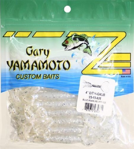 031 Blue Pearl - Yamamoto Double Tail Hula Grub 4