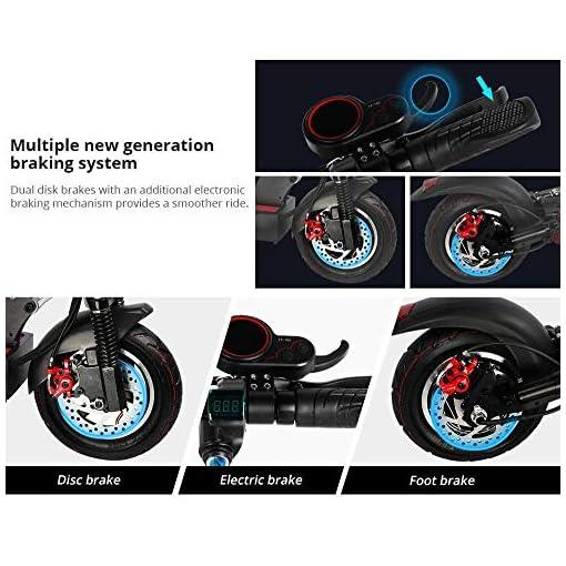 Kugoo Kirin M4 Trottinette Electrique Scooter Pliable 10″ Pneus Pneumatiques 500 W Moteur sans Balais 3 Modes de Vitesse Frein à Disque Double Vitesse Maximale 45 km/h Affichage LED