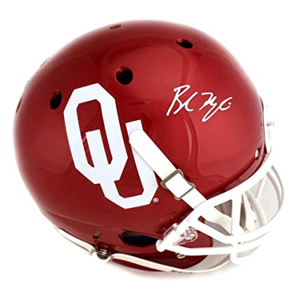 440815db7 Baker Mayfield Signed Oklahoma Sooners Schutt Full-Size Helmet - Autographed  College Helmets