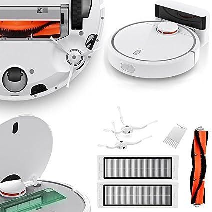 BuyYourWish Original Xiaomi Mi Home Smart Robot Aspirador con 6pcs Limpieza Robot Accesorios Cepillo Principal +