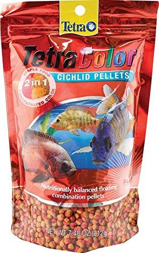 Tetra 14316 Color 2-in-1 Cichlid Pellets, X-Large/7.48 oz