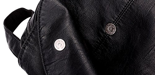 CLOTHES- Sacchetto di viaggio delle signore dello zaino della pelle molle di ricreazione di alta capacità della pelle di pecora