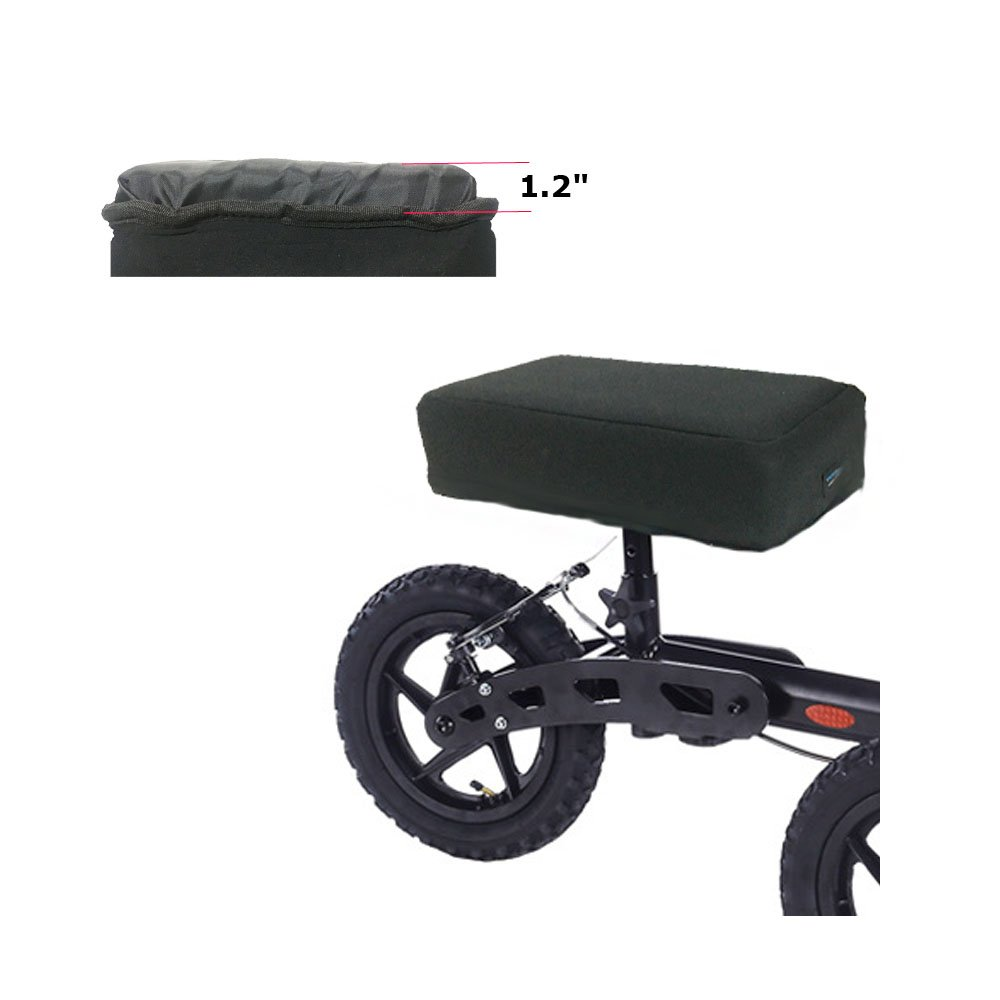 "Knee Walker Foam Pad Leg Scooter Seat Cover Accessory Parts 1.2""Soft Knee Roller Cart Padding Cushion (Black)"