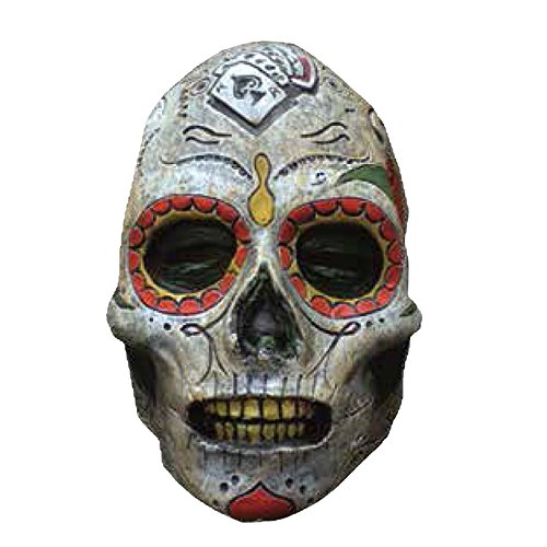 Day Of The Dead Zombie Halloween Mask (Trick or Treat Studios Day Of The Dead Zombie Mask, Multi, One Size)