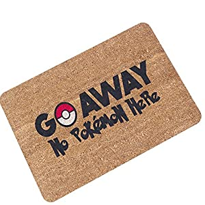 "Funny Doormat Rubber Door Mat Water Sucking Anti Soil Ground Mat Flocking Felt Mildew Proof Foot Pad 15.7""x23.6"""