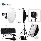 LimoStudio 600W Flash Strobe Light Photo Studio Monolight Speedlite Lighting Kit, Whtie/Black Diffuser Umbrella Softbox Light Stand, AGG905V2