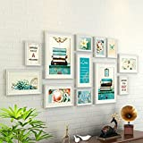 ZYANZ White Pine Combined Photo Frame, Stylish And Simple Photo Wall, Estimated Area Of 177 × 72cm