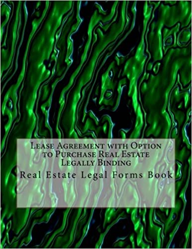 Lease Agreement With Option To Purchase Real Estate Legally