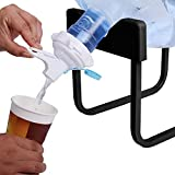 5 gallon glass jug dispenser - Alken 3-5 Gallon Water Jug Stand and White Dispenser Valve, Rust-Resistant Non Slip Water Stand with Food Grade Fast Flow Water Spout for 55MM Non Threaded Crown Top Water Jugs