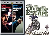 The Great Escape & Dirty Harry + Magnum Force DVD Action Pack 3 Movie Set Clint Eastwood & Steve McQueen