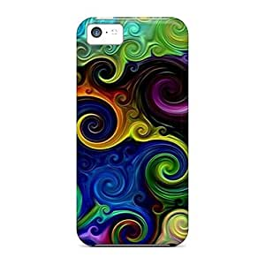 Ideal LastMemory Case Cover For Iphone 5c(rainbow Waves), Protective Stylish Case