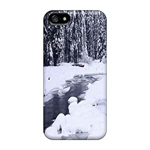 River In Forest On Winter Day High Grade cell phone shells Protective Stylish Cases Shock Absorbing Iphone5 iphone 5s iphone 5