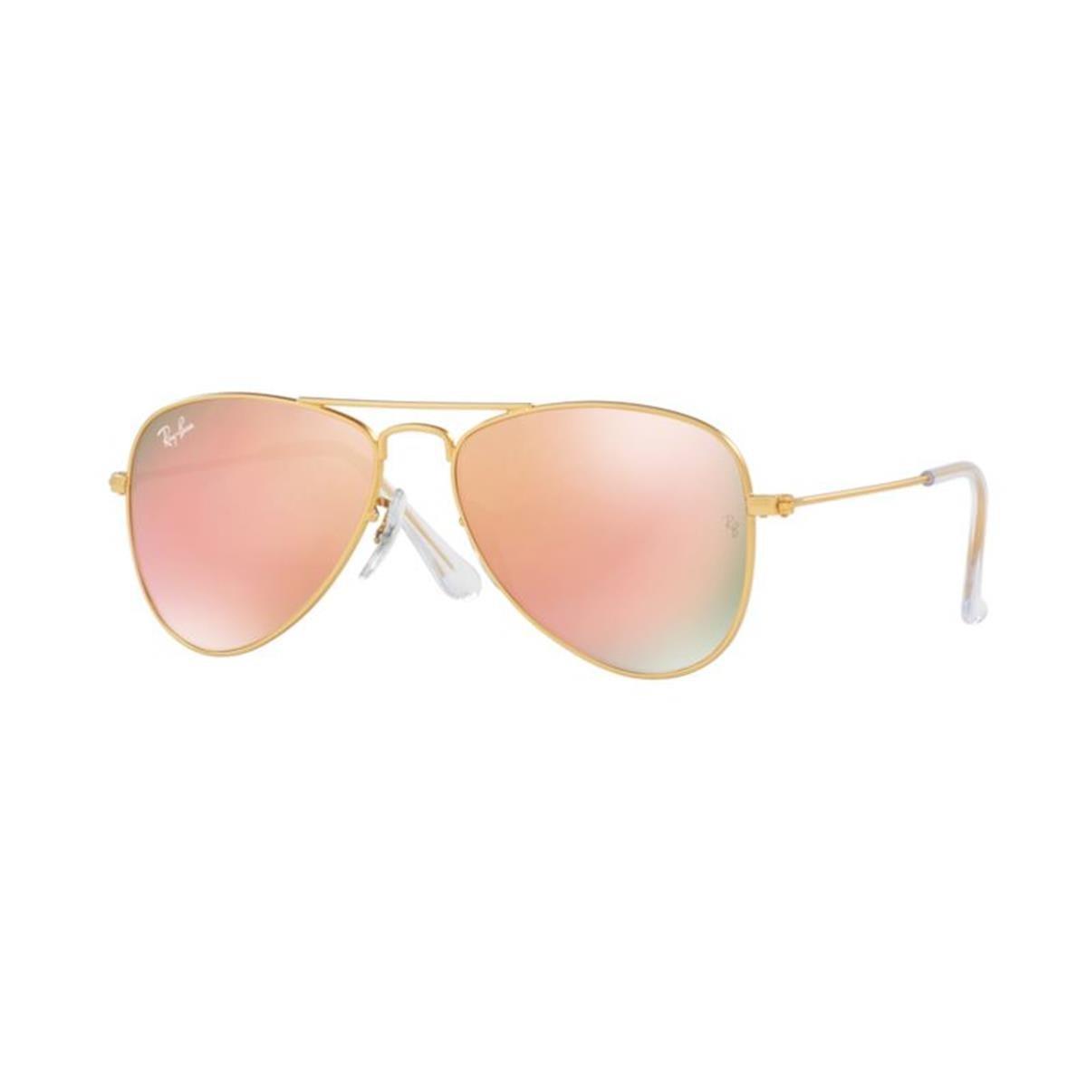 Ray-Ban Jr. Kids Aviator Kids Sunglasses (RJ9506) Gold Matte/Bronze Metal - Non-Polarized - 50mm