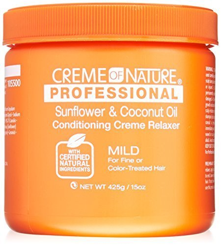 Creme of Nature Professional Sunflower and Coconut Oil Conditioning Relaxer, Mild Formula, 15 Ounce by Creme of Nature (Conditioning Sunflower)
