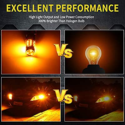 1156 LED Bulb Amber Turn Signal Light Anti Hyper Flash CANBUS Error Free 360lm 42-LED Built-in Load Resistor 1156 BA15S P21W 1141 1073 7506 1003 12V 150°Led Bulb(1156 Amber): Automotive
