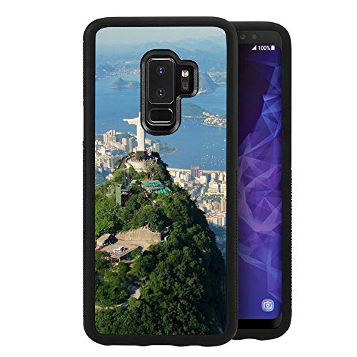 Cell Phone Case Compatible with Samsung Galaxy S9 Plus (2018) [6.2inch] Brazil Mount Corcovado Rio De Janeiro South American Statue (Name Of The Statue In Rio De Janeiro)