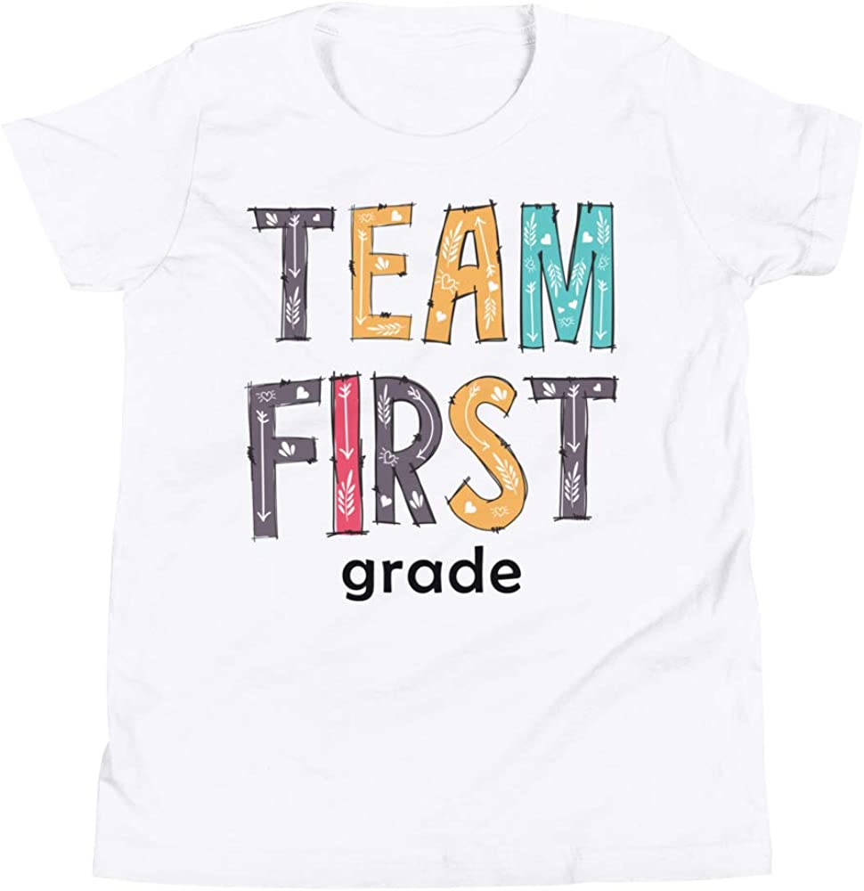 Little Shark Team First Grade Squad T-Shirt Funny 1st Grade Tee Shirt Back to School Tees Gift