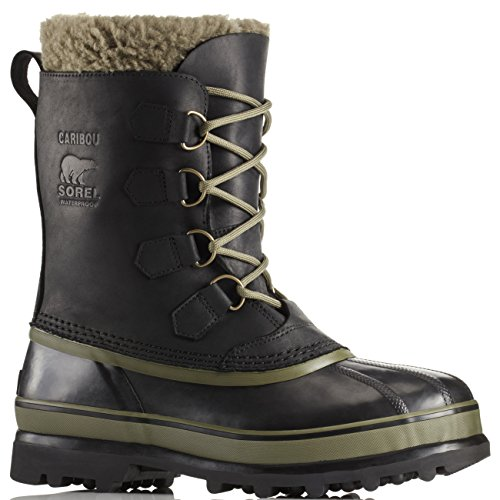 SOREL Mens Caribou Wl Snow Boot, Black, 11 B(M) (Sorel Caribou Wool)