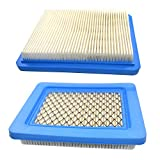 HQRP 2-pack Engine Air Filter for Craftsman 33644 / 3364 Replacement fits Craftsman Lawn Mower Yard Vacuum Tiller with 6.5, 7.75 & 7 HP Briggs&Stratton Engines + HQRP Coaster