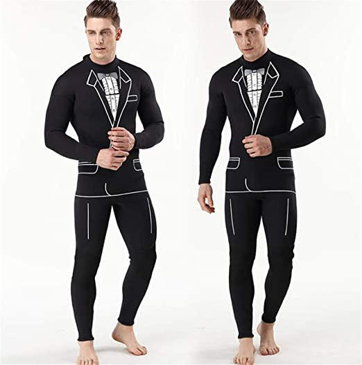 Amazon.com: SPP PANDA 3mm Mens Wetsuits Full Length Swimsuit ...