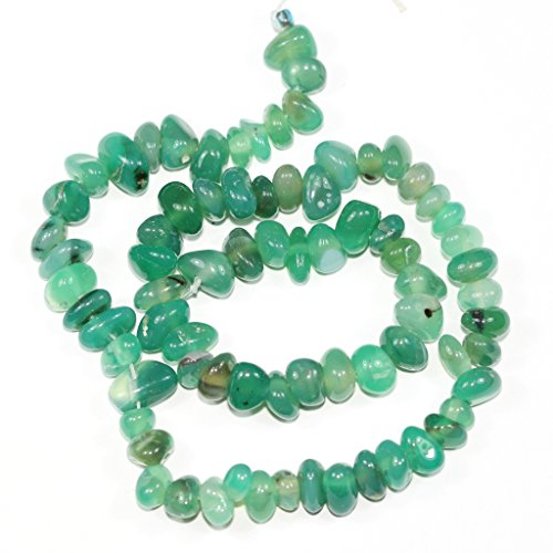 AAA Natural Green Agate Gemstones Round Chips Beads Free-form Loose Beads ~10x8mm beads ( ~16