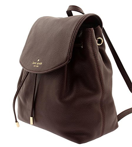 Kate Spade Mulberry Street Small Breezy Leather Backpack Bag in Mahogany
