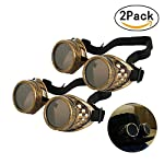 T&B New Colored Diamond Lens Vintage Steampunk Goggles Glasses Welding Cyber Punk Black 12