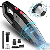 Audew Car Vacuum Cleaner, Portable Vacuum Cleaner for Car, 5500PA High Power Handheld Vacuum, Wet Dry Car Hand Vac DC 12V Corded Vacuum Cleaner