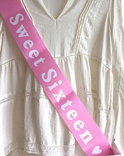 Sweet Sixteen Birthday Sash - 16 Birthday girl's 16th Par...