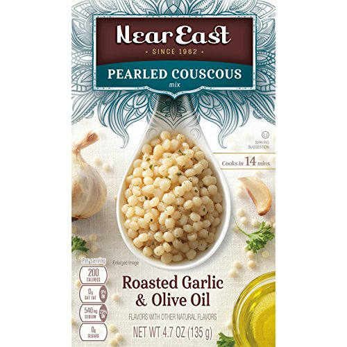 Near East Oil Pearled Couscous, Roasted Garlic & Olive, 4.7 oz by Near East