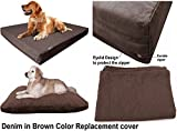 Dogbed4less Heavy Duty Chocolate Brown Denim Jean